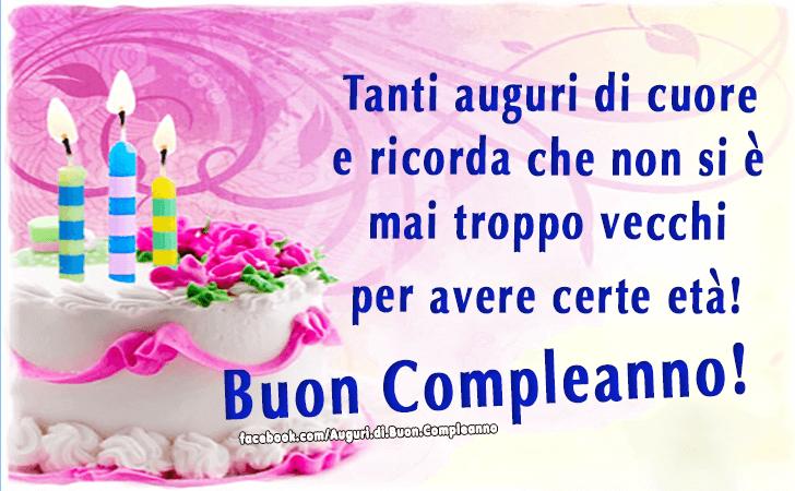 spesso Auguri di Buon Compleanno | Buon Compleanno JI73