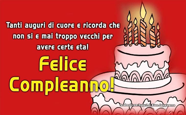 Amato Auguri di Buon Compleanno | Buon Compleanno WZ39
