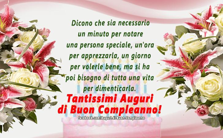 Favorito Auguri di Buon Compleanno | Buon Compleanno CM01