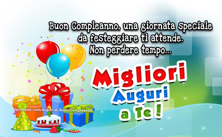 Popolare Auguri di Buon Compleanno | Migliori Auguri a Te! VR78