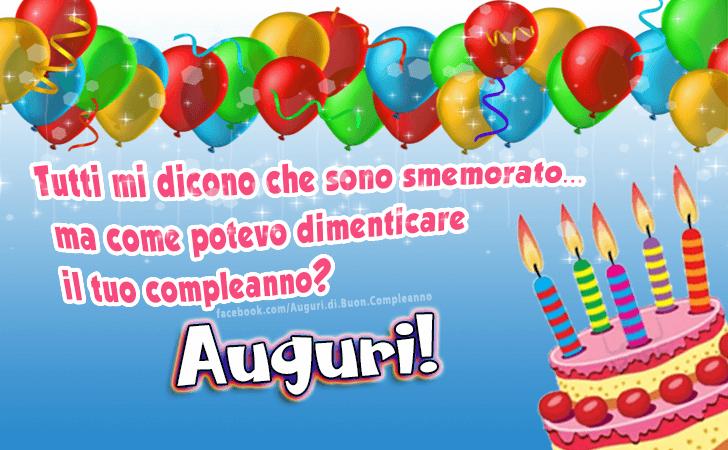Favorito Auguri di Buon Compleanno | Buon Compleanno CZ94