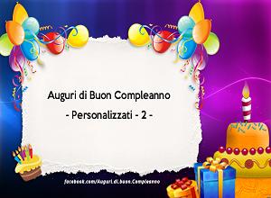 Auguri di Buon Compleanno   Personalizzati
