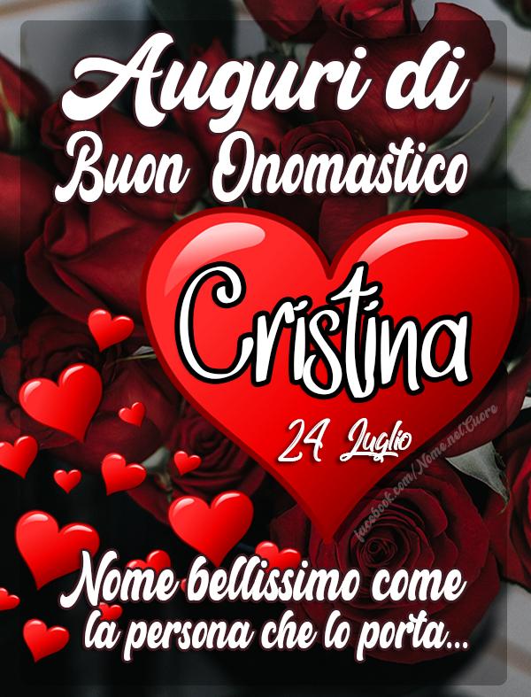 Auguri di onomastico CRISTINA 24 luglio - Auguri, frasi e immagini di onomastico Cristina 24 luglio