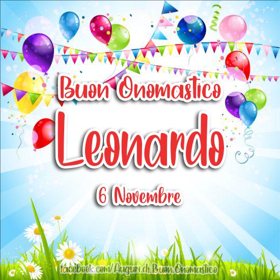 Onomastico del nome Leonardo (6 Novembre) - Auguri, frasi e immagini di buon Onomastico Leonardo (6 Novembre)