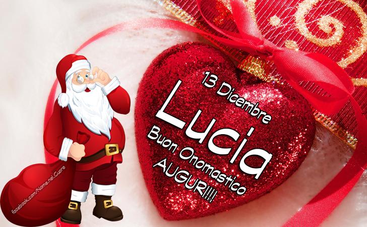 13 Dicembre, LUCIA - Buon Onomastico - Auguri - Onomastico del nome LUCIA, 13 Dicembre