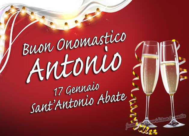 Sant'Antonio Abate 17 Gennaio - Buon Onomastico Antonio - Auguri di Onomastico Antonio (17 Gennaio)