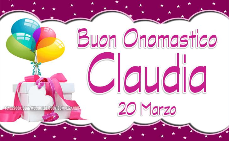 Onomastico del nome Claudia - Auguri di Onomastico Claudia - Santa Claudia martire 20 Marzo