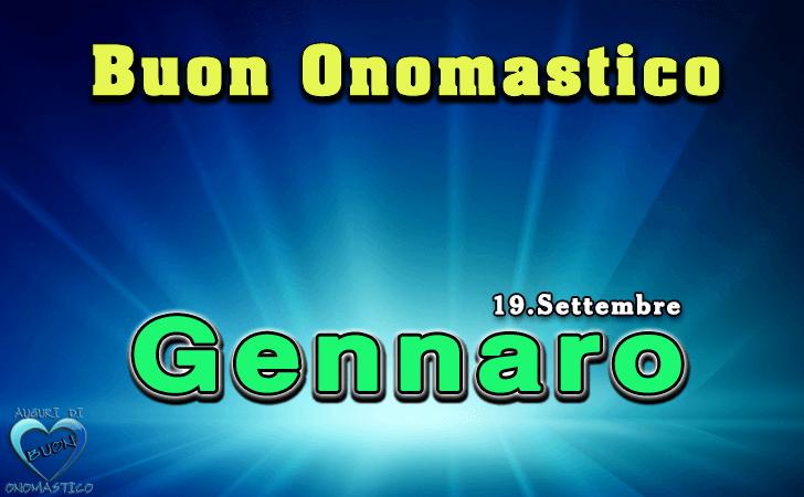 Buon Onomastico Gennaro (19 settembre)