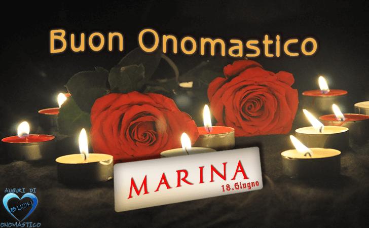 Buon Onomastico Marina - Onomastico del nome Marina 18 giugno