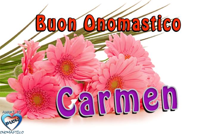 Buon Onomastico Carmen (16 Luglio)