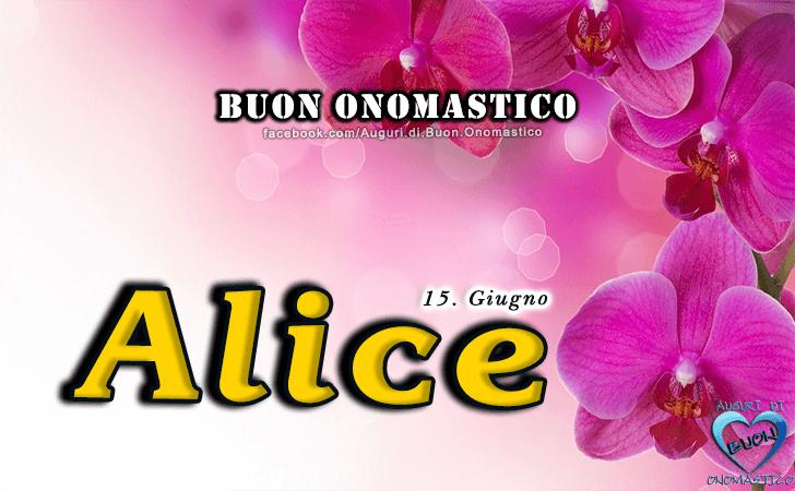 Buon Onomastico Alice! - Buon Onomastico Alice!