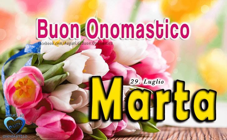 Buon Onomastico Marta! - Buon Onomastico Marta!