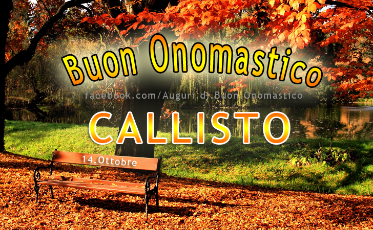 Buon Onomastico Callisto! - Buon Onomastico Callisto!