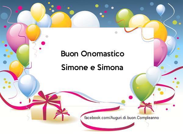 Buon Onomastico Simone e Simona - Buon Onomastico Simone e Simona - AUGURI