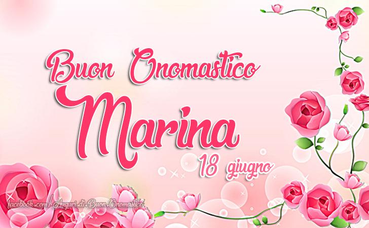 Buon Onomastico Marina (18 giugno) - Onomastico del nome Marina (18 giugno)