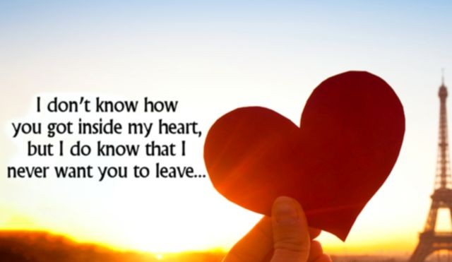 Love is all | I don't know how you got inside my heart, but I do know that I never want you to leave...