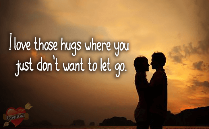 Love is all | I love those hugs where you just don't want to let go.