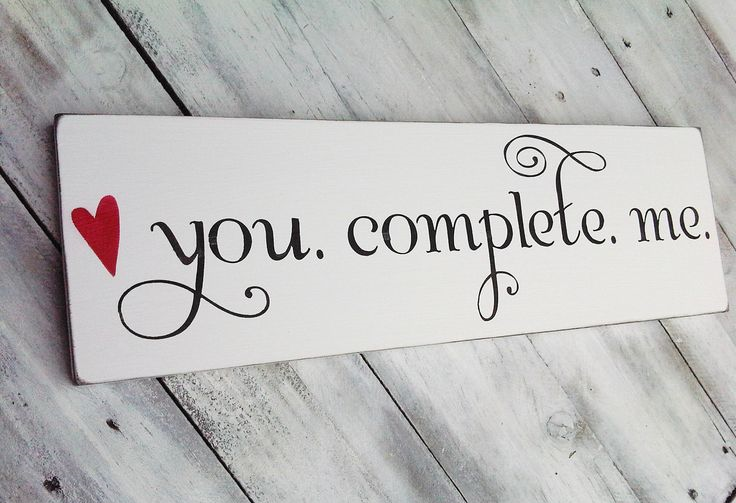 Love is all | You complete Me...